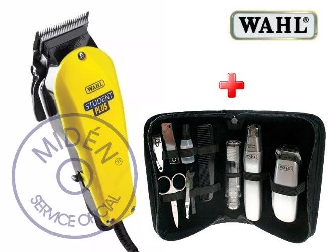 Máquina Cortar Pelo Wahl Student Plus (usa) +Kit Travel Gear cbf4022ba66e